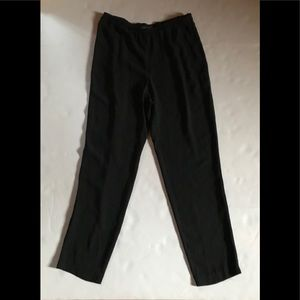 Eileen Fisher black silk flows straight leg pants